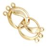 Bronze Hook Round With Leaf 3 Loop 12mm